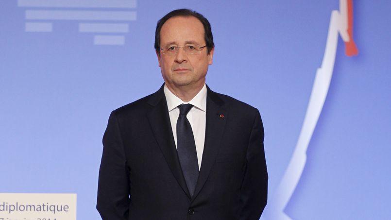 François Hollande, ici au Palais de l'Elysée, lors de la présentation de ses voeux au corps diplomatique, le 17 janvier.