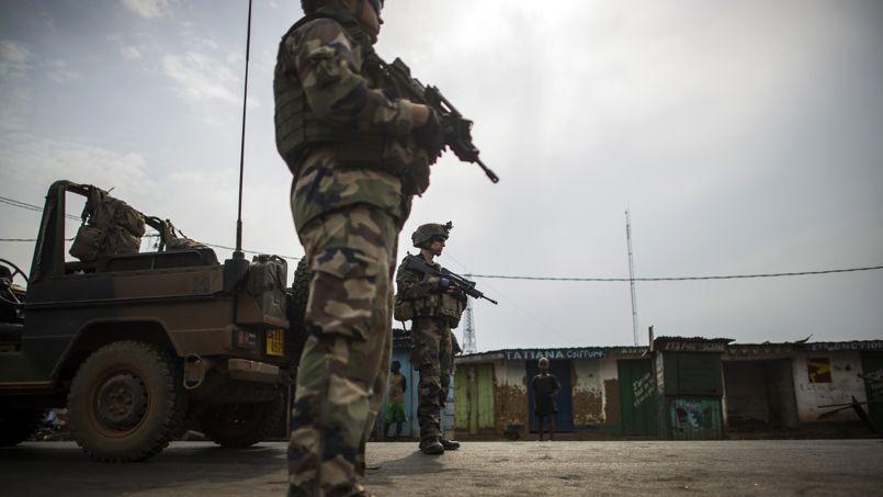 Une patrouille française à Bangui.