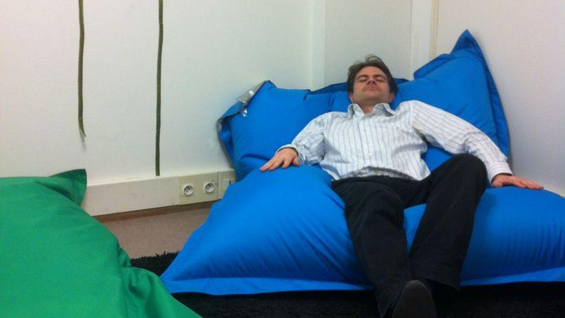 La moitié des employés de la société Novius utilisent la salle de sieste qui leur est proposée. (Crédit: D.R.)
