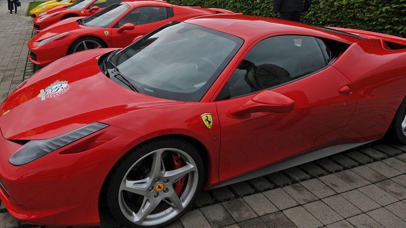 Rassemblement du Ferrari Club allemand à Dresde, le 31 mai 2013.
