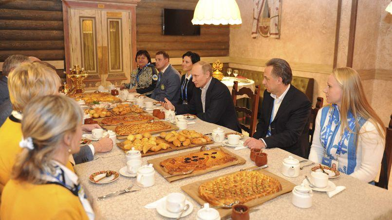 Samedi dernier, Vladimir Poutine est venu rendre visite à la délégation ukrainienne aux Jeux olympiques de Sotchi.