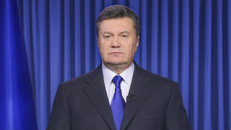 Viktor Ianoukovitch lors de son intervention à la télévision ukrainienne, mercredi.