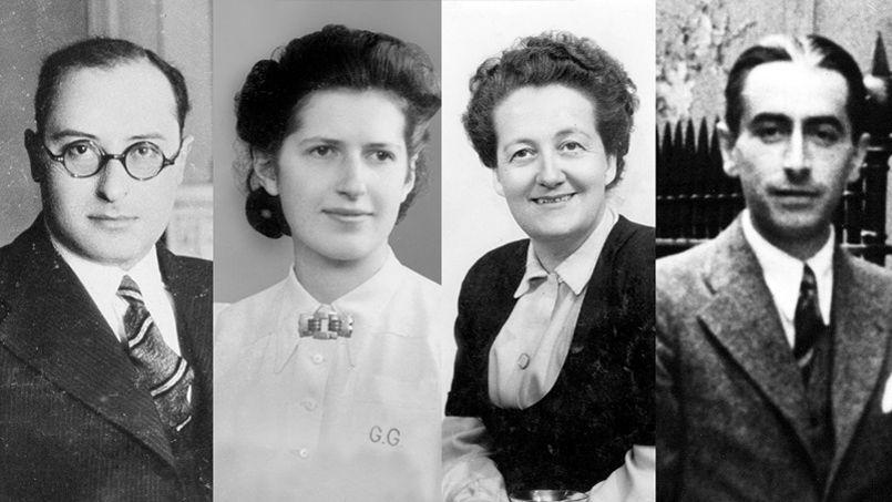 De gauche à droite: Jean Zay, Geneviève de Gaulle Anthonioz, Germaine Tillion et Pierre Brossolette.