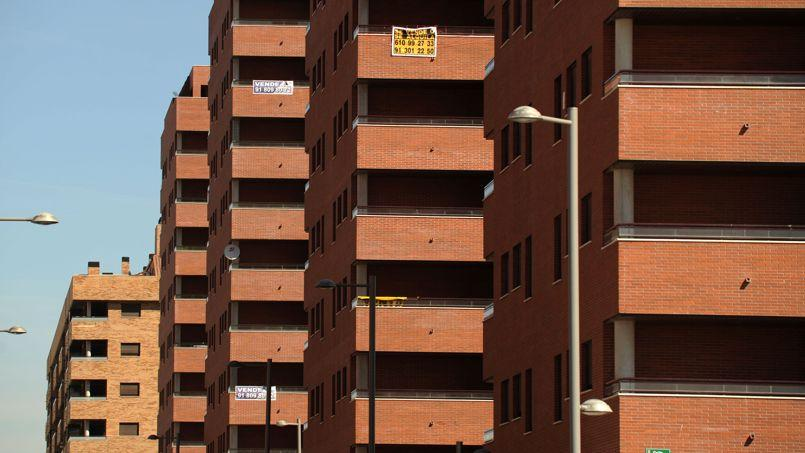 Appartements neufs en vente à Sesena près de Madrid en juillet 2008.