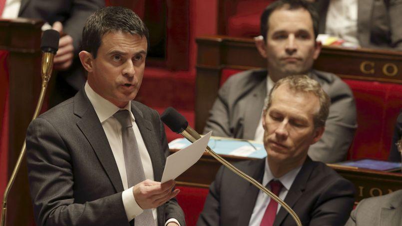 Manuel Valls, mardi, à l'Assemblée.