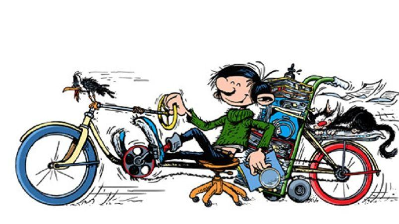 Gaston Lagaffe, le véritable antihéros de la BD dessinée par Franquin, célébré par Google... les mouettes (rieuses).