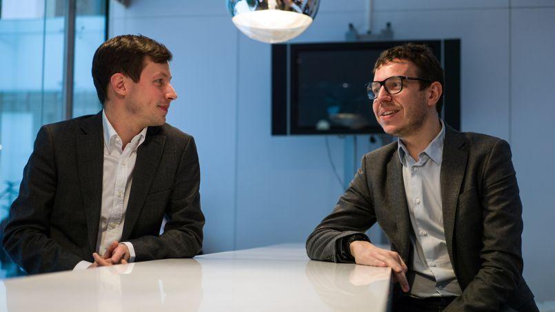 François-Xavier Bellamy et Gaël Brustier. Julien Muguet/Le Figaro