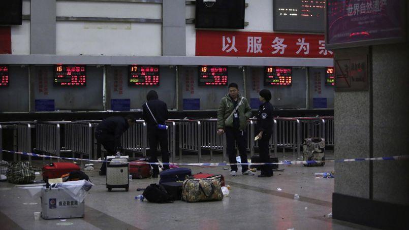 La gare de Kunming après l'attaque