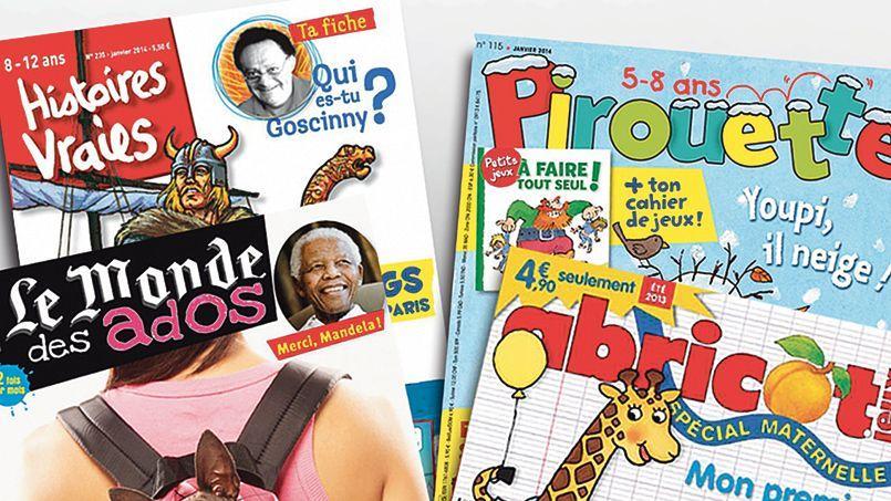 Avec des titres comme Le Monde des ados, Fleurus Presse cible désormais les lecteurs de plus de 10 ans.