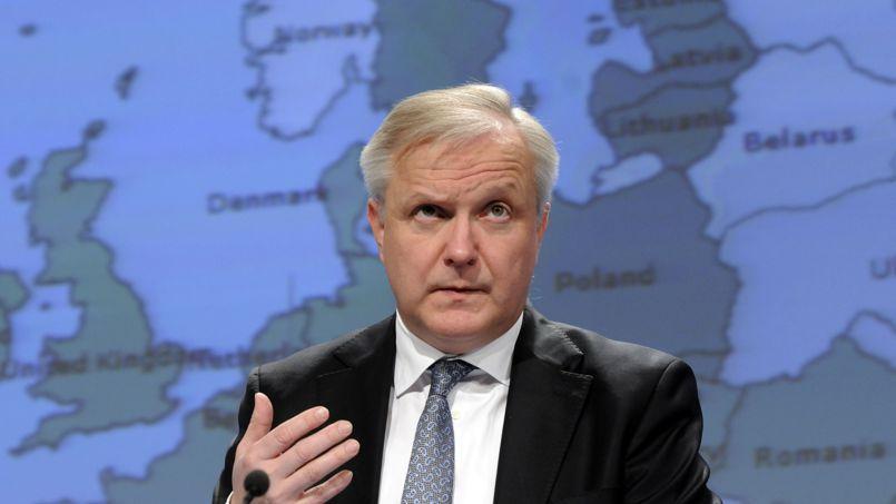 Olli Rehn, commissaire européen aux affaires économiques et financières, ce mercredi à Bruxelles.