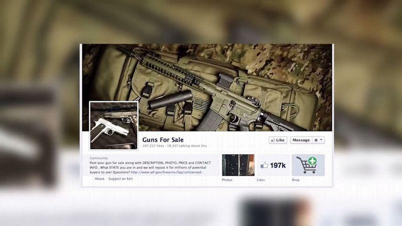 Un exemple de page Facebook qui propose la vente d'armes