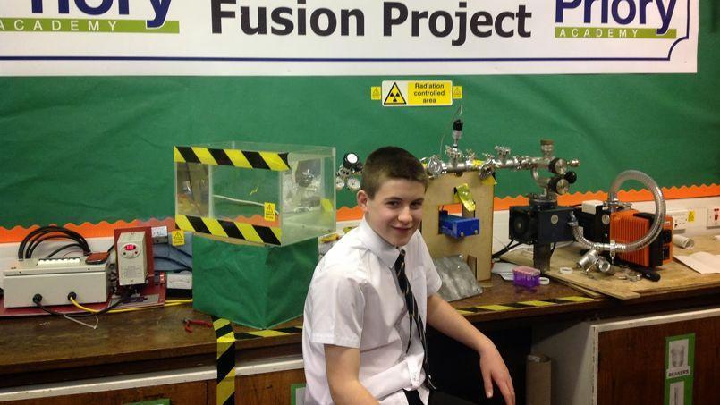 Il aura fallu cinq mois au jeune garçon pour terminer son réacteur nucléaire.
