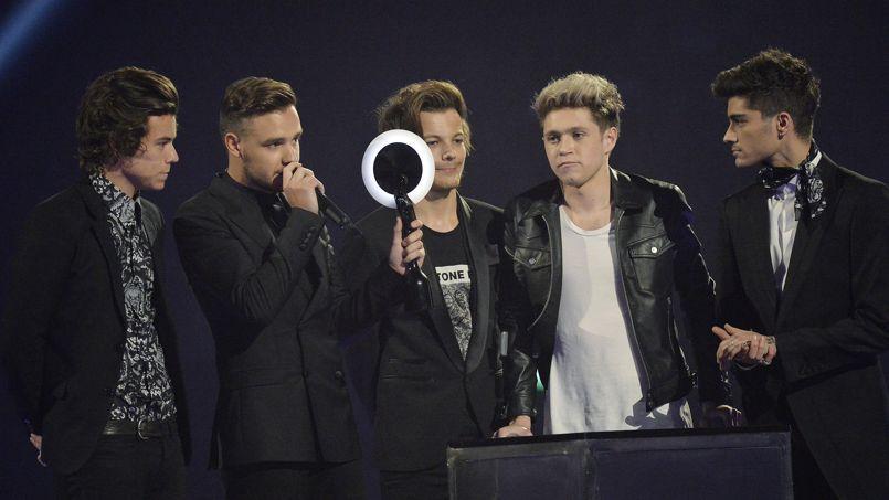 Les Britanniques de One Direction, groupe le plus populaire au monde en 2013 selon l'Ifpi.