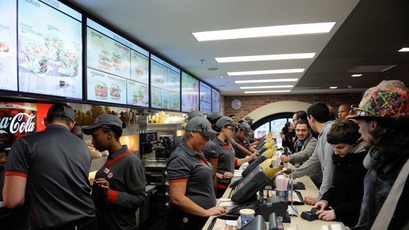 Le Burger King de Saint-Lazare réalise le deuxième chiffre d'affaire mondial du réseau derrière celui de l'aéroport d'Amsterdam. Crédit: Wyters Alban/Abaca