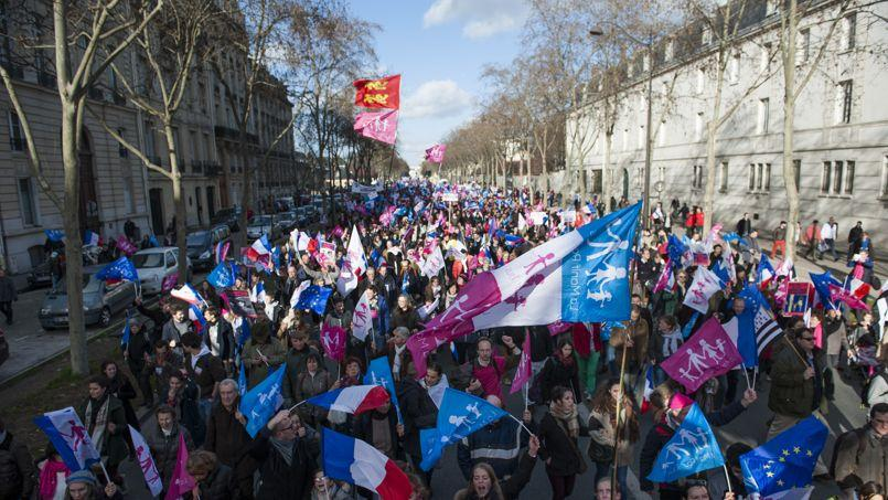 Manifestation contre la loi Taubira. Photo: Vincent Boisot/Le Figaro