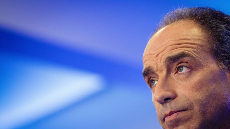 Jean-François Copé lors d'une conférence de presse à l'UMP.
