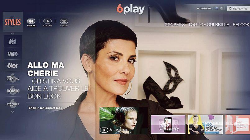 Page d'accueil de la chaîne Styles, avec Christina Cordula, sur l'application 6play.