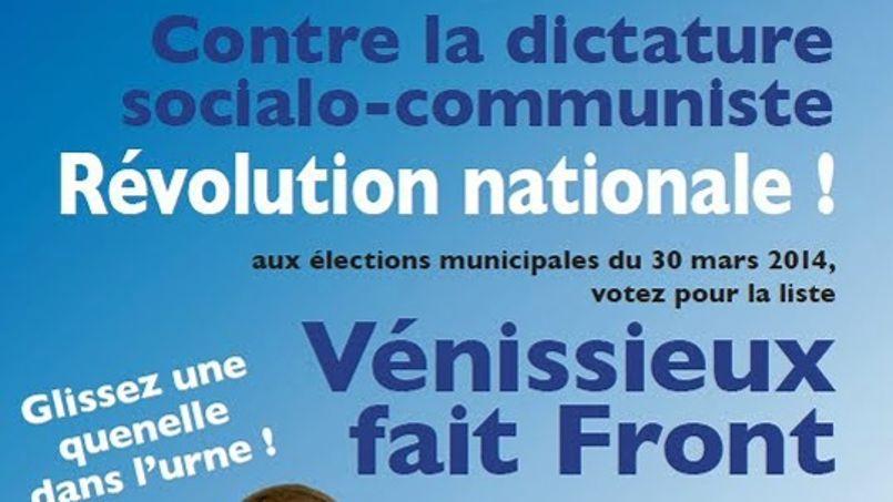 L'affiche Vénissieux fait Front du second tour.