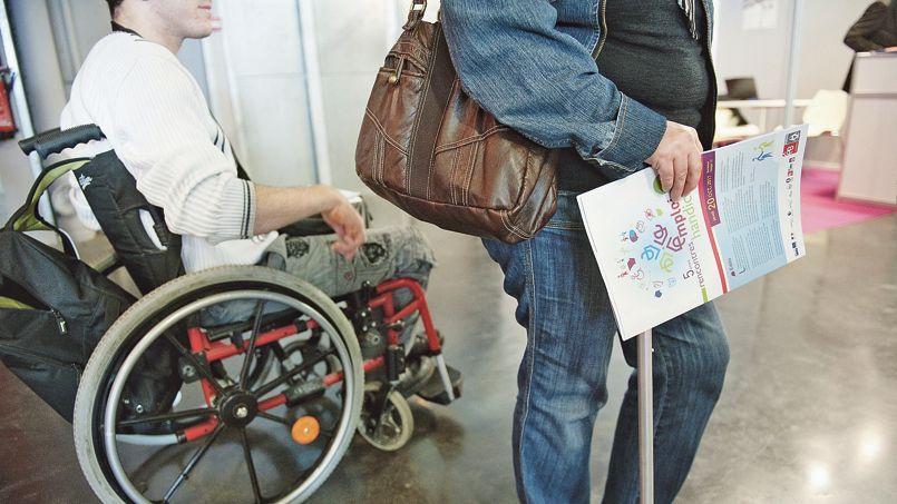 En 2013, plus de 403.000 personnes handicapées se sont inscrites à Pôle emploi. .