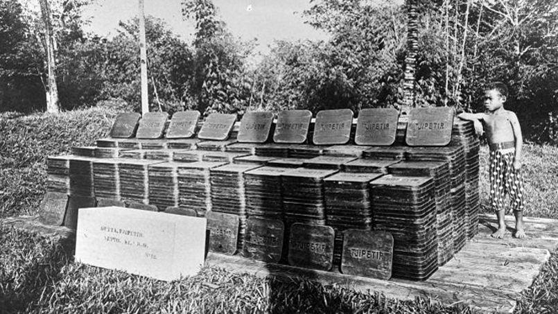 Ces plaques, fabriquées il y a 90 ans en Indonésie, s'échouent par centaines sur nos côtes.