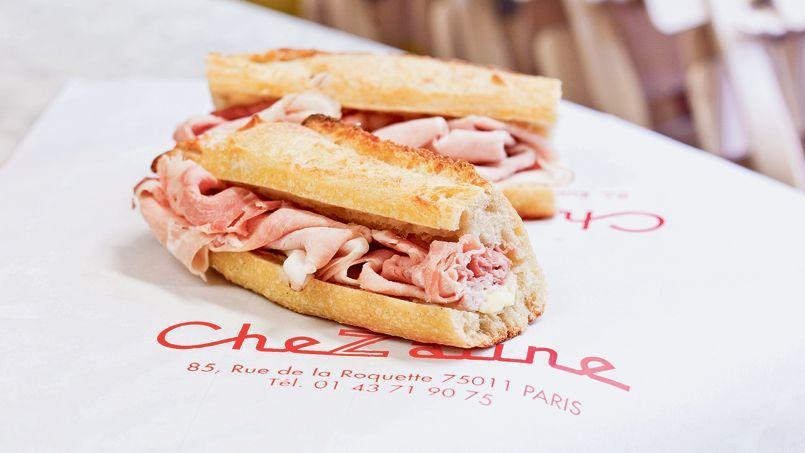 Le lauréat de notre test, le sandwich de Chez Aline.