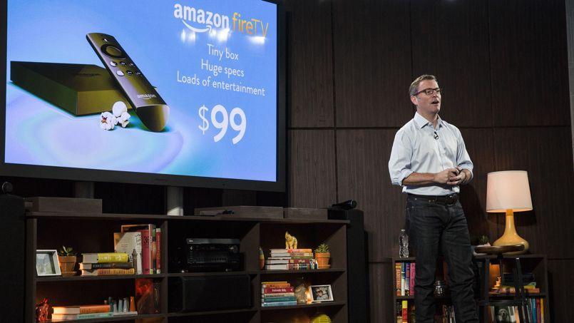 La FireTV, vendue 99dollars, diffuse des films et des séries en streaming sur grand écran.