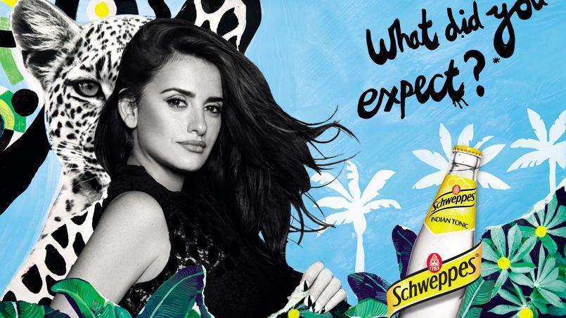 Avec Penelope Cruz, Schweppes signe le troisième volet d'une campagne résolument glamour portant le slogan «What did you expect?».