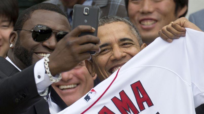 David Ortiz et Barack Obama, le 1er avril à la Maison-Blanche