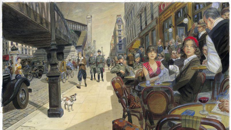 Jean-Pierre Gibrat, Le Vol du Corbeau, estimée 35.000 à 40.000 euros chez Christie's.