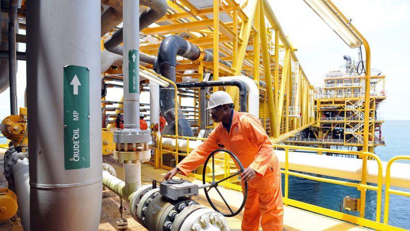 Plateforme de Total à Amenem, à proximité de Port Harcourt dans le delta du Niger.