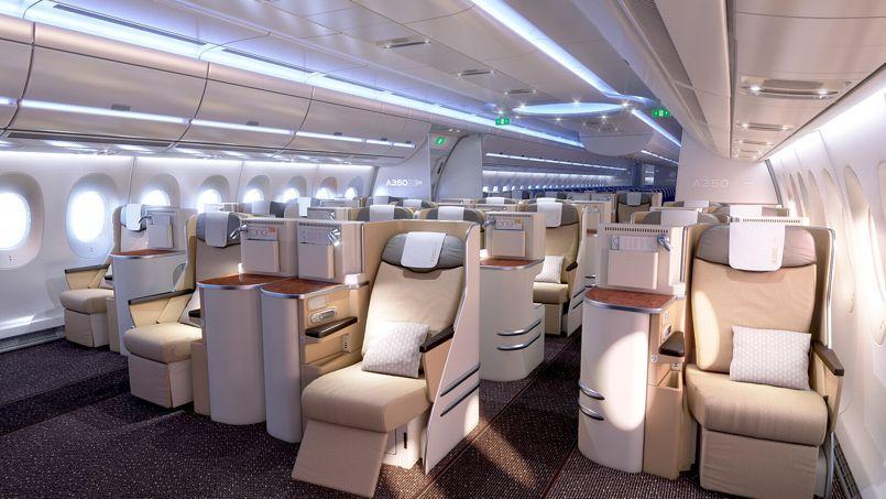Airbus lève le voile sur la cabine de l'A 350