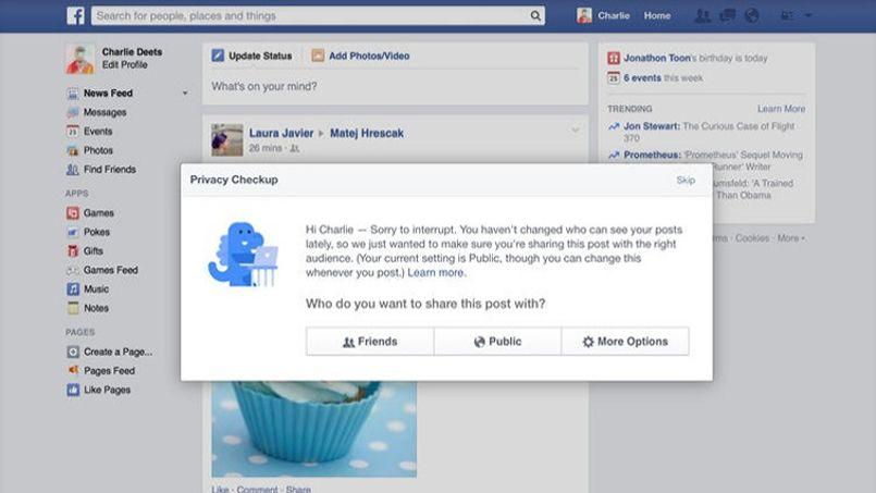 Facebook veut simplifier la gestion des paramètres de confidentialité