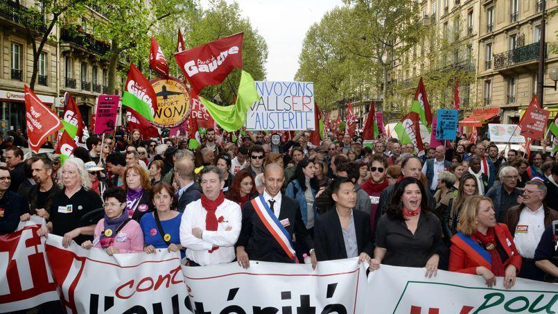 Défilé de la gauche radicale samedi à Paris.