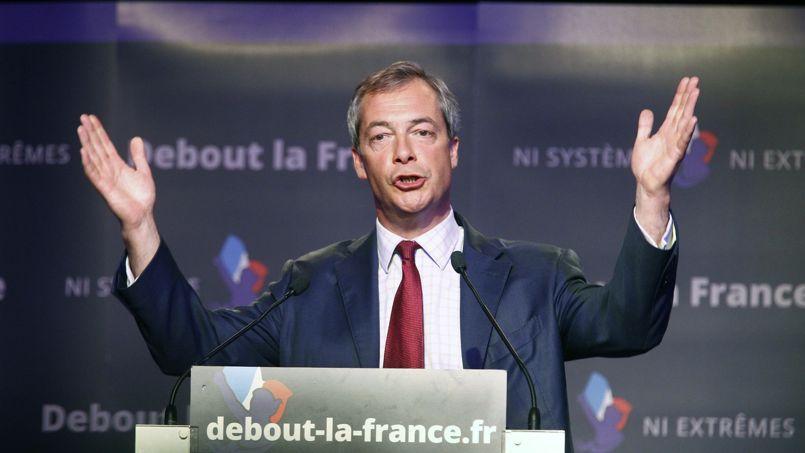 Nigel Farage au meeting de Debout la République dimanche 12 avril