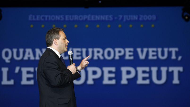 Xavier Bertrand lors d'un meeting UMP pour les européennes de 2009. François BOUCHON / Le Figaro