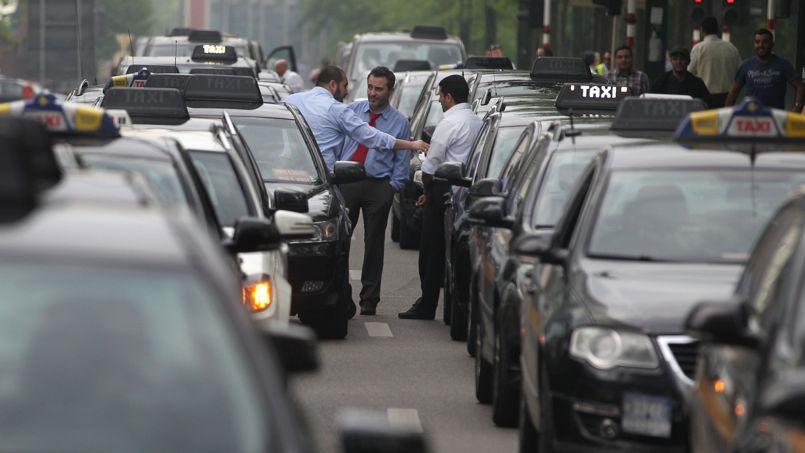 Des taxis bruxellois en grève