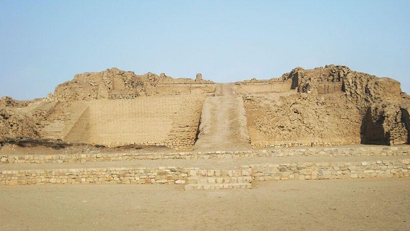 Le temple du soleil du site archéologique de Pachacamac au Pérou.