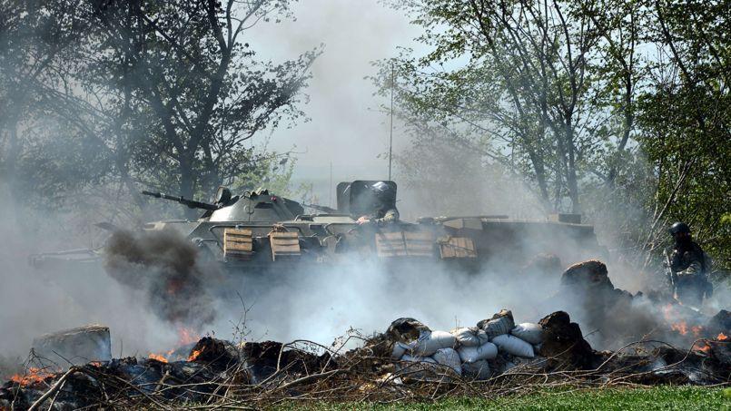 Des forces spéciales ukrainiennes ont pris possession, jeudi, d'un barrage abandonné par des rebelles à Sloviansk, dans la région de Donbass.