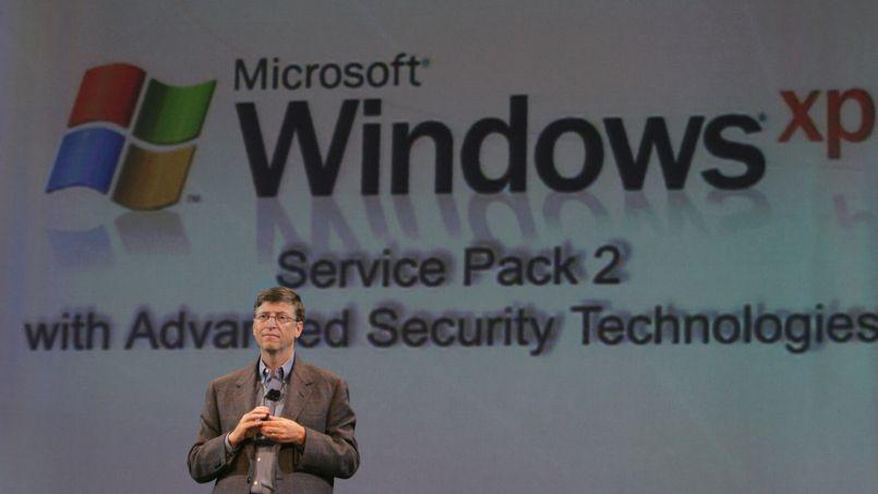 La présentation de Windows XP SP2 par Bill Gates, en 2005.
