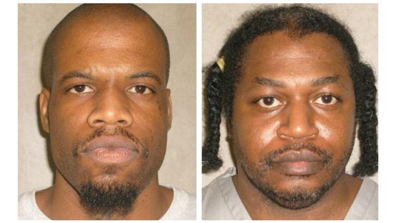 Clayton Lockett (gauche) et Charles Warner (droite), condamnés à mort pour meurtre et viol en Oklahoma aux Etats-Unis.