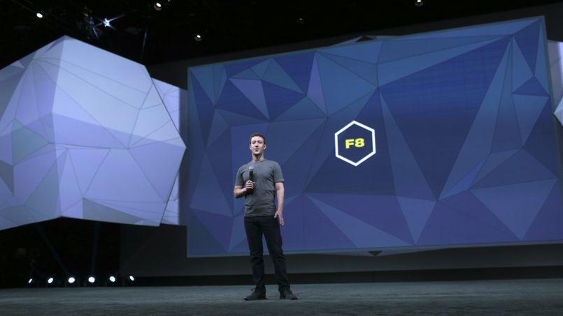 Marc Zuckerberg, patron et cofondateur de Facebook, lors de sa conférence de développeurs F8.