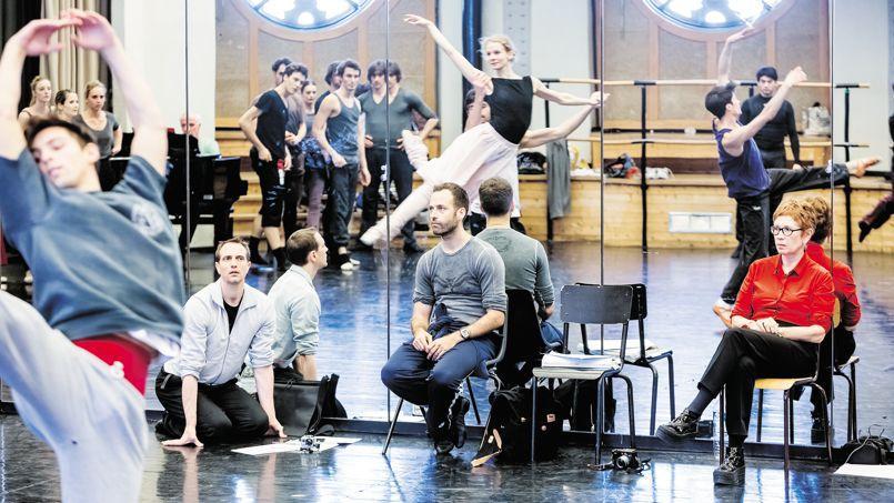 Benjamin Millepied lors des répétitions de Daphnis et Chloé, à l'Opéra Garnier.