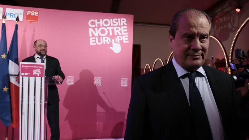 Martin Schultz, à gauche, et Jean-Christophe Cambadélis.