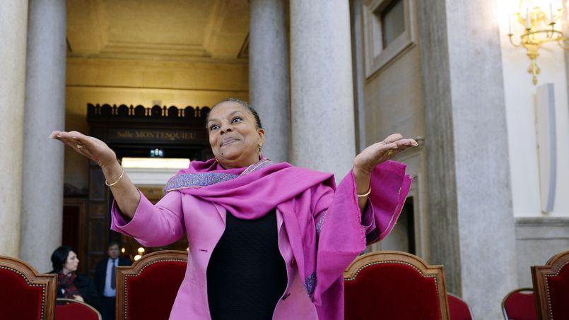 Christiane Taubira en octobre 2013 au tribunal de Lyon.