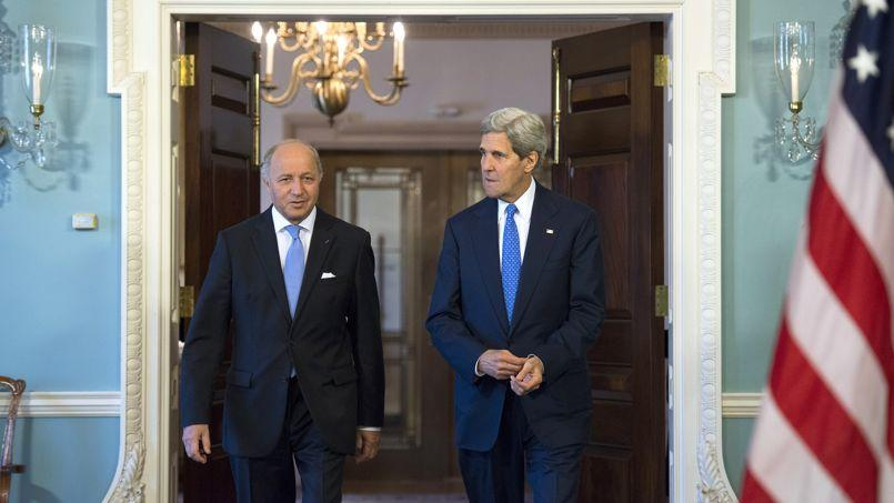 Laurent Fabius et John Kerry, mardi, à Washington.