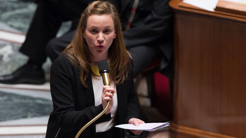 La secrétaire d'État au Numérique, Axelle Lemaire à l'Assemblée nationale lors des questions au gouvernement