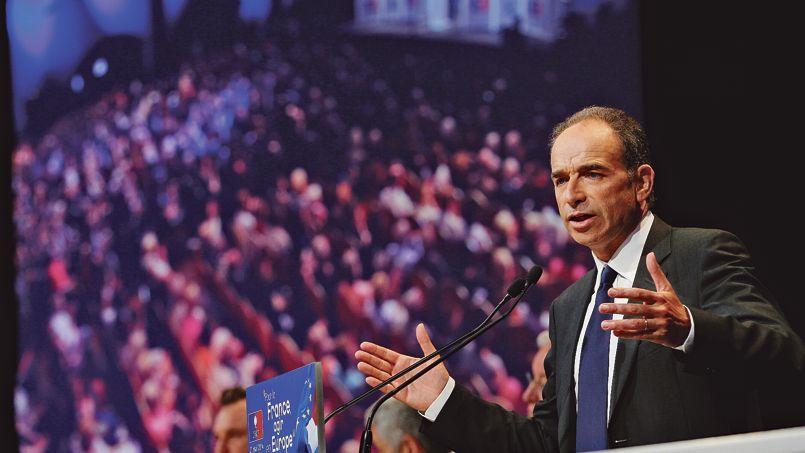 Jean-François Copé, lors du meeting national de l'UMP pour les élections européennes, mercredi à Paris.