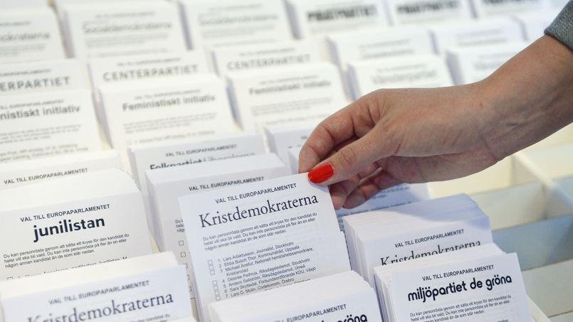 Des bulletins de vote en Suède.
