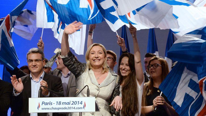 La présidente du Front national, Marine Le Pen, le 18 mai 2014 à Paris.