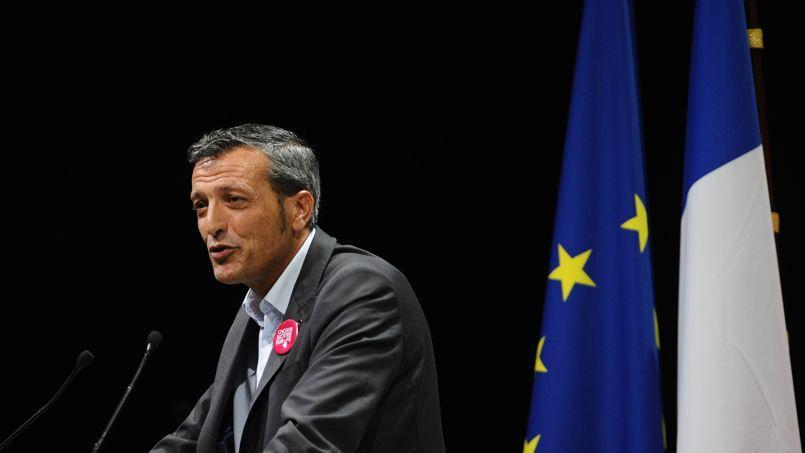 Édouard Martin lors d'un meeting de campagne à Metz, le 13 mai.